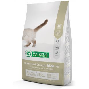 NATURE'S PROTECTION Sterilised Junior 6-12 months Poultry with krill Sausas pašaras katėms 2 kg