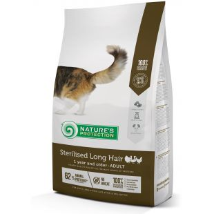NATURE'S PROTECTION Sterilised Longhair Adult 1 year and older Poultry Sausas pašaras katėms 2 kg