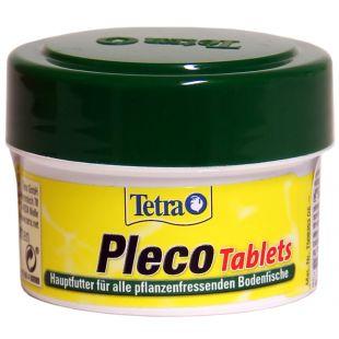 TETRA Pleco Tablets Pašaras žolėdėms dugninėms akvariumo žuvims 58 vnt.