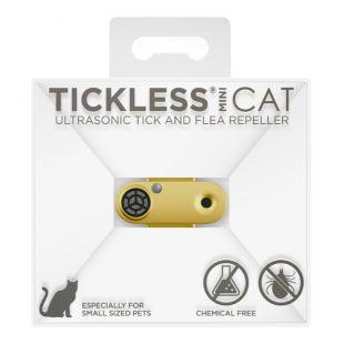 TICKLESS CAT Ultragarsinis pakabukas nuo erkių ir blusų katėms auksinės spalvos