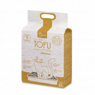 VELVET PAW Tofu Kraikas katėms, 2 mm granulės originalus, 2.6 kg/6 l x 3
