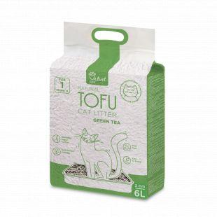 VELVET PAW Tofu Kraikas katėms, 2 mm granulės su žaliosios arbatos ekstraktu, 2.6 kg/6 l x 3