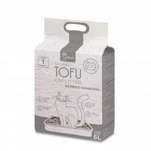 VELVET PAW Tofu Kraikas katėms, 2 mm granulės su bambuko anglimi, 2.6 kg/6 l x 3