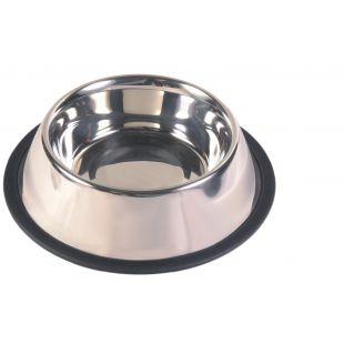 TRIXIE Dubenėlis šunims metalinis su guma 0.9 l,  17 cm