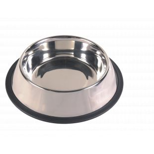 TRIXIE Dubenėlis šunims metalinis su guma 1.8 l, 20 cm