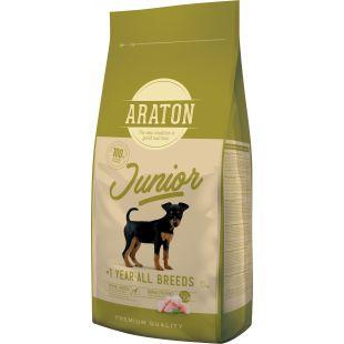 ARATON Junior Poultry Sausas pašaras šunims 15 kg