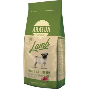 ARATON Junior Lamb Sausas pašaras šunims 15 kg