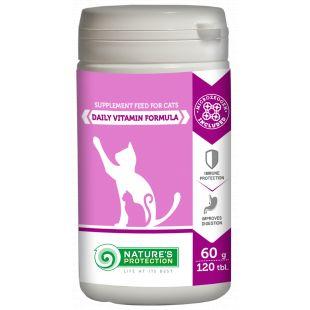 NATURE'S PROTECTION Daily Vitamins Formula Papildai katėms 120 tbl., 60 g