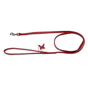 COLLAR GLAMOUR Odinis pavadėlis raudonas, 0.9x122 cm