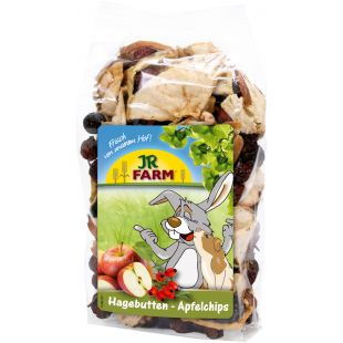 JR FARM Rose Hip Apple Chips Pašaro papildas graužikams 125 g