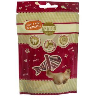 ARATON Araton skanėstas katėms, antienos sumuštiniai 50g 50 g