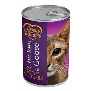LOVELY HUNTER Sterilized cat chicken and goose Konservuotas pašaras, 400 g