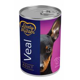 LOVELY HUNTER Adult veal Konservuotas pašaras šunims 400 g