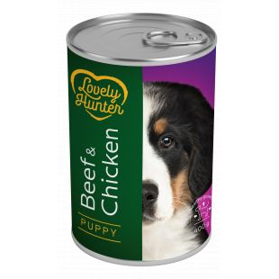 LOVELY HUNTER Puppy Beef and chicken Konservuotas pašaras šunims 400 g