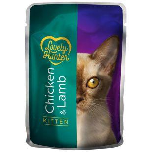 LOVELY HUNTER Kitten Konservuotas pašaras katėms su vištiena ir ėriena 85 g