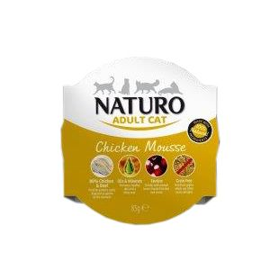 NATURO Cat Chicken Mousse Konservuotas pašaras 85 g