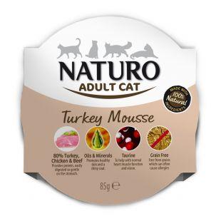 NATURO Cat Turkey Mousse Konservuotas pašaras 85 g