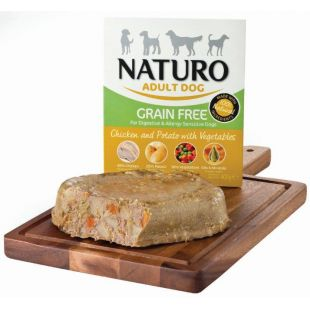 NATURO Grain Free Chicken & Potato with Veg. Konservuotas pašaras šunims 400 g