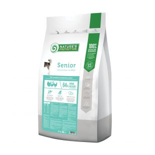 NATURE'S PROTECTION All breeds Senior 7 years and older Poultry Sausas pašaras šunims 12 kg x 2