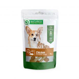 NATURE'S PROTECTION skanėstas šunims iš vištienos svarmens formos 75 g