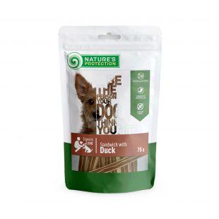 NATURE'S PROTECTION skanėstas šunims sumuštiniai su antiena 75 g