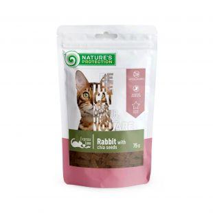 NATURE'S PROTECTION skanėstas katėms triušiena su ispaninio šalavijo sėklomis 75 g