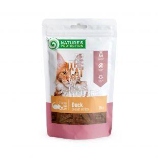 NATURE'S PROTECTION skanėstas katėms antienos krūtinėlės juostelės 75 g