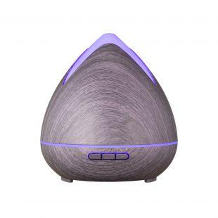 MDM Ultragarsinis difuzorius su pulteliu ir kolonėle, violetinio medžio imitacija, 400ml