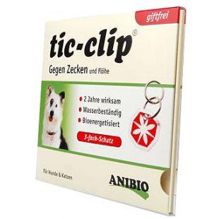 ANIBIO Tic-clip šunų ir kačių apsaugos priemonė - pakabukas, apsaugoti nuo erkių ir blusų 1 vnt.