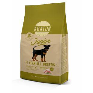 ARATON Junior Poultry Sausas pašaras šunims 3 kg