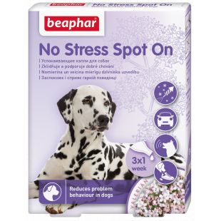 BEAPHAR No Stress Spot on Dog Lašai šunims 1 pipetė x 3