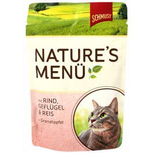 FINNERN MIAMOR Schmusy Natures Menu Konservuotas pašaras katėms su jautiena ir vištiena 100 g
