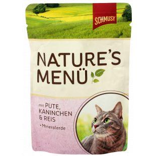 FINNERN MIAMOR Schmusy Natures Menu Konservuotas pašaras katėms su kalakutiena ir triušiena 100 g