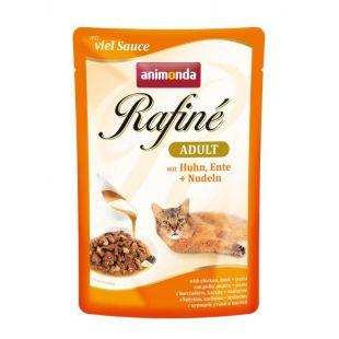 ANIMONDA Rafine adult Konservuotas pašaras katėms su vištiena, antiena ir makaronais 100 g