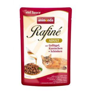 ANIMONDA Rafine adult Konservuotas pašaras katėms su paukštiena, triušiena ir kumpiu 100 g