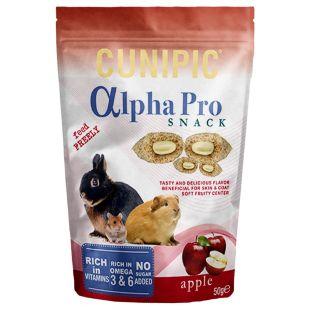 CUNIPIC Snack Užkandis triušiams obuolių, 50 g