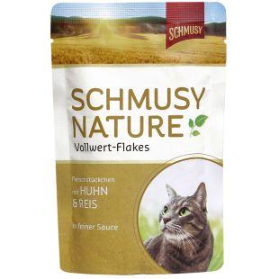 FINNERN MIAMOR Schmusy Nature Vollwert-flakes Konservuotas pašaras katėms su vištiena ir ryžiais 100 g