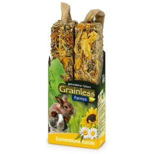 JR FARM Grainless Farmys Gardėsis graužikams su saulėgrąžomis ir ramunėlėmis, 140 g