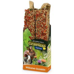 JR FARM Grainless Farmys Gardėsis graužikams su laukinėmis sėklomis ir margainiais, 140 g