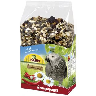 JR FARM Birds Individual African For Grey Parrots Lesalas pilkosioms papūgėlėms 1 kg