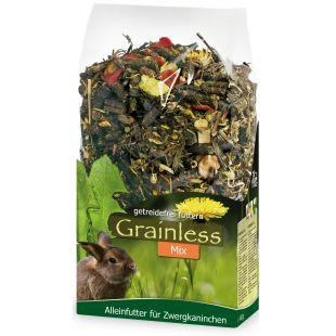 JR FARM Grainless Mix Begrūdis pašaras dekoratyviniams triušiams 650 g