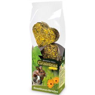 JR FARM Grainless Gardėsis graužikams su medetkomis, širdelių formos, 105 g
