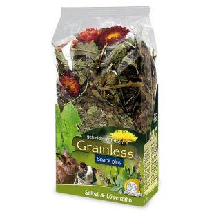 JR FARM Grainless plus Žolelės graužikams su šalavijais ir pienėmis, 100 g