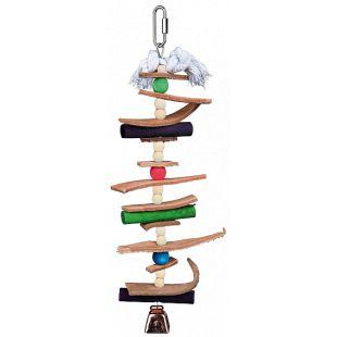 TRIXIE Žaislais paukščiams Medinis su oda ir karoliukais 28 cm