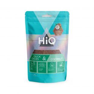 HIQ skanėstas katėms antienos gabaliukai su kokosu 75 g