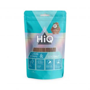 HIQ skanėstas šunims ėrienos juostelės su kokosu 75 g