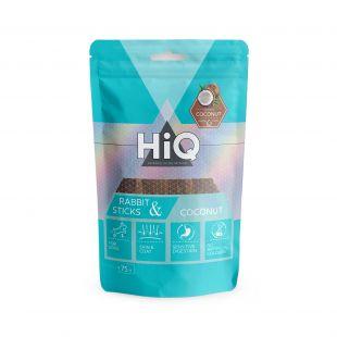 HIQ skanėstas šunims triušienos pagaliukai su kokosu 75 g
