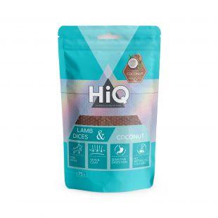 HIQ skanėstas šunims ėrienos ir kokoso  kubeliai 75 g
