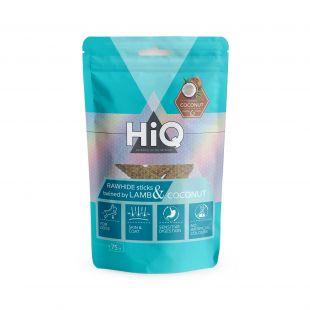 HIQ skanėstas šunims galvijų odos pagaliukas  apsuktas ėriena su kokosu 75 g