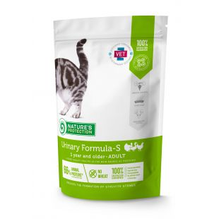 NATURE'S PROTECTION Urinary Formula-S Adult 1 year and older Poultry Sausas pašaras katėms 400 g